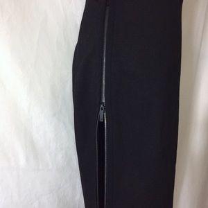 DVF Black Noemi Pencil Zip Pencil Skirt 4